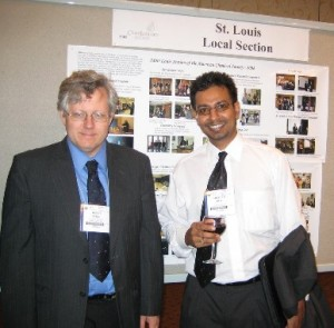 "Keith Stine, advisor, and Arindam Roy, Chair, represented the YCC chapter at the Washington, DC, national meeting where they accepted the ""Best new local section YCC"" ChemLuminary Award on behalf of the St Louis Section."