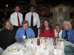Section members in attendance at ChemLuminary Awards (seated or kneeling, l to r): Alexa Serfis, Keith Stine, Lisa Balbes, Bill Doub, Donna Friedman; (standing): Eric Bruton, Arindam Roy